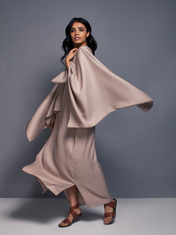 EPIPHANY - Deep plunge cape sleeve kaftan