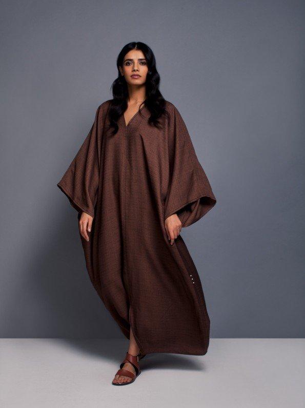 EPIPHANY - Oversized v-neck closed abaya-kaftan