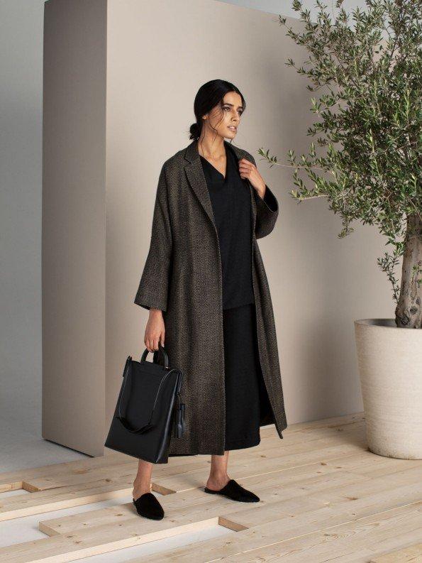 EPIPHANY - 3/4 length belted coat